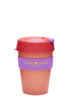 KeepCup Plastic 12oz (salmon pink-purple)